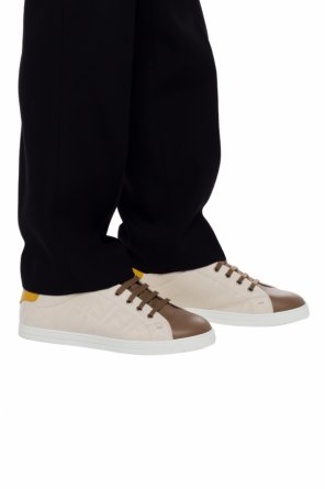 Logo-embroidered sneakers od Fendi