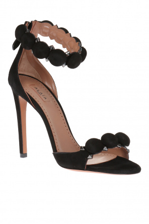 Suede high heel sandals od Alaia