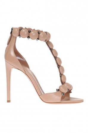 Leather high heel sandals od Alaia
