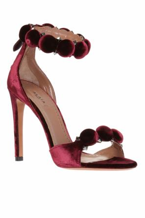 Velvet high heel sandals od Alaia