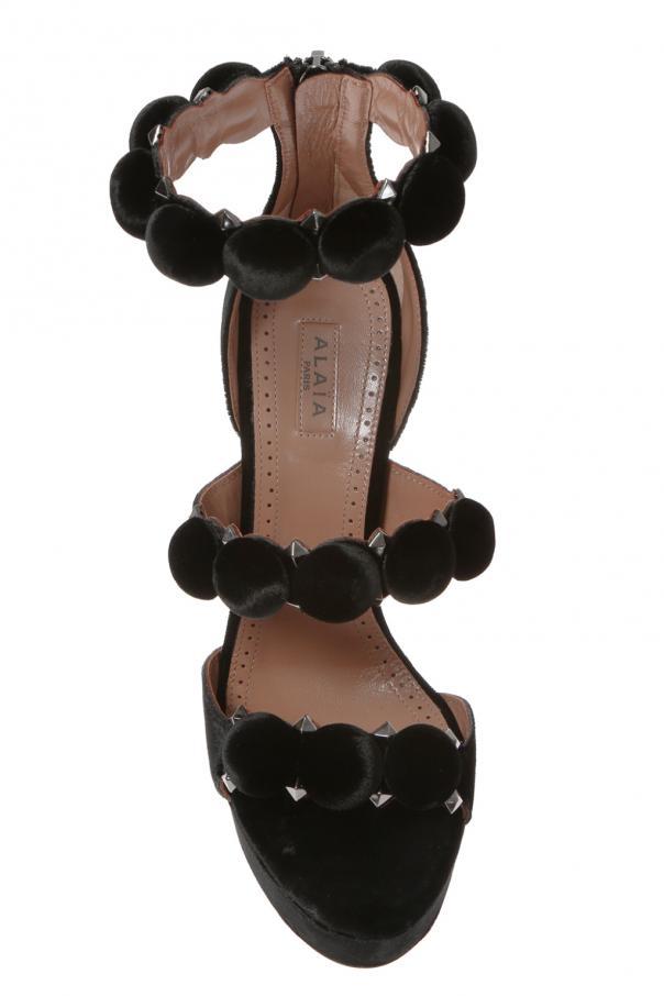 Velvet platform sandals od Alaia