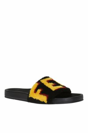 Fur-trimmed slippers od Fendi
