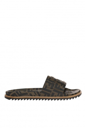 Patterned slides with logo od Fendi