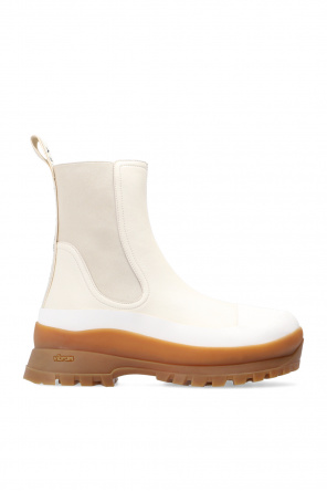 'trace' ankle boots with logo od Stella McCartney