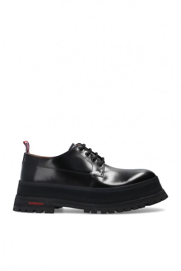 Burberry Lace-up platform shoes