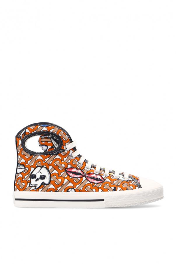 Burberry 图案饰运动鞋