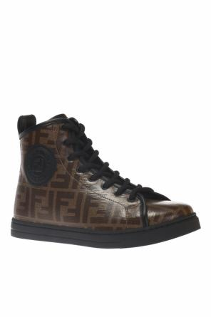 Branded high-top sneakers od Fendi