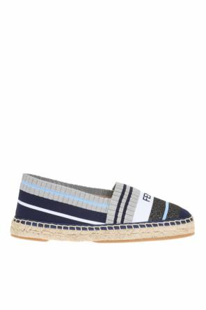 Embroidered logo espadrilles od Fendi