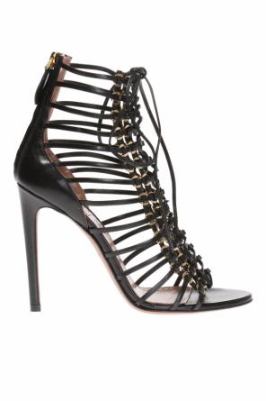 Lace-up heeled sandals od Alaia