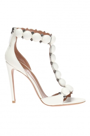 Heeled leather sandals od Alaia