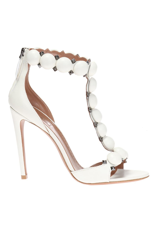 Alaia Heeled leather sandals