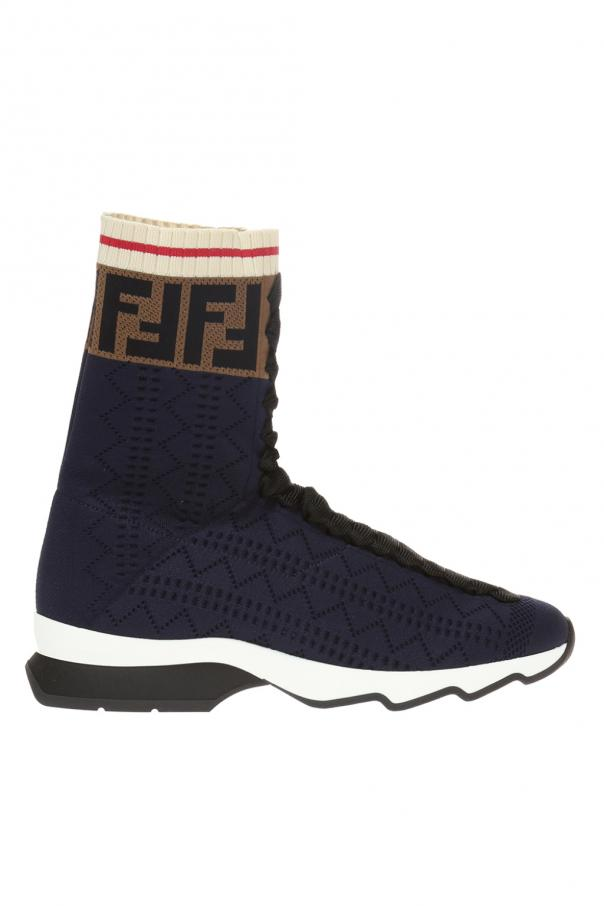 High-top sneakers with sock Fendi - Vitkac shop online 5856a5763c4