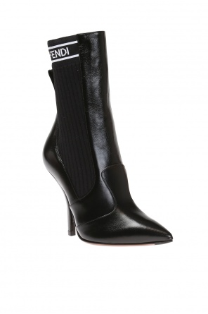 Heeled ankle boots with sock od Fendi