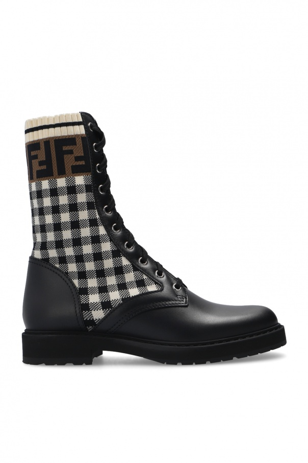 Fendi Boots with fabric inserts