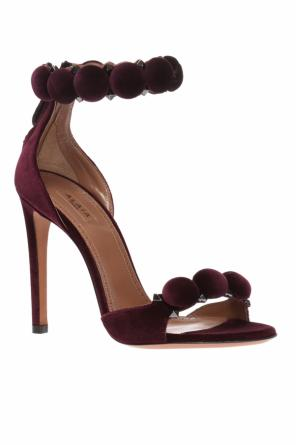 Velvet stiletto sandals od Alaia