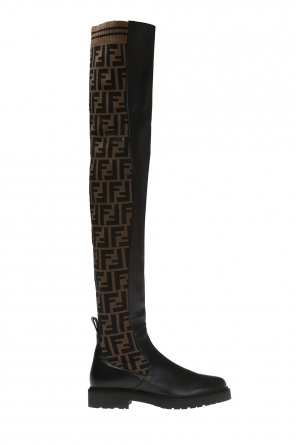 Over-the-knee boots with logo od Fendi