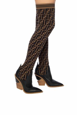 Thigh-high boots with sock od Fendi