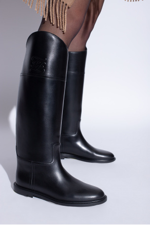 Leather boots od Fendi