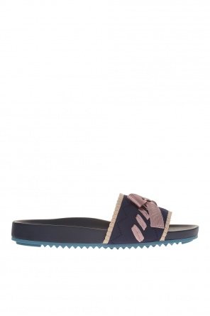 Sliders with bow od Fendi