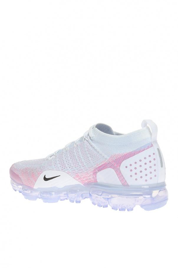f8fa9005ba4732 Nike Vapormax Flyknit 2 Pink Beam Black Background Nike Air Vapormax ...