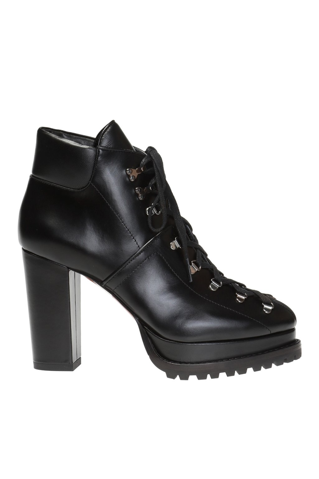 Alaia Platform ankle boots with stitching