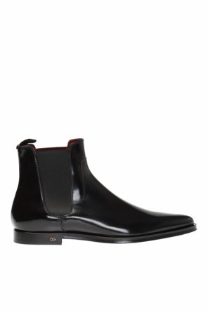 Ankle boots with metal logo od Dolce & Gabbana