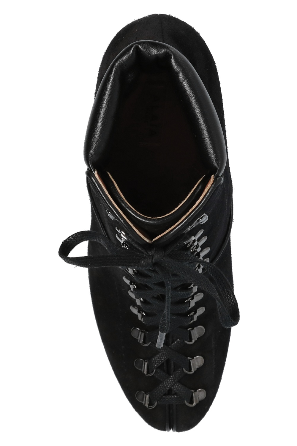 Alaia Suede heeled ankle boots