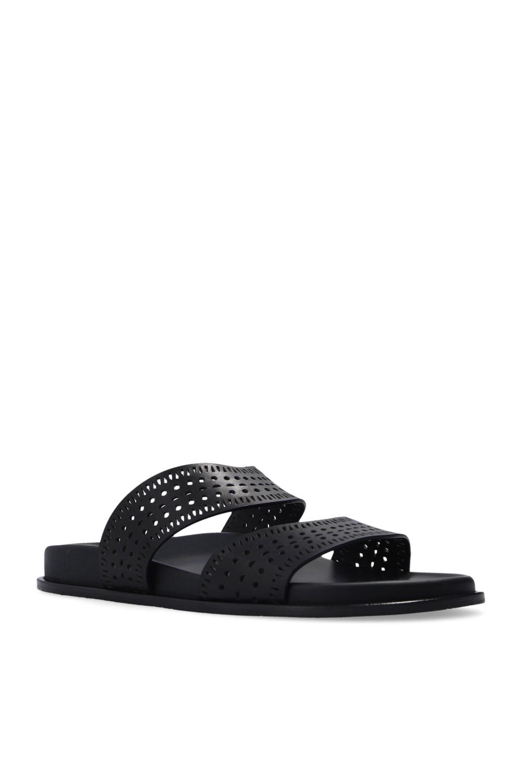 Alaia Leather slides
