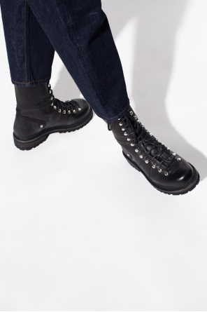 'kombat' leather boots od Dsquared2
