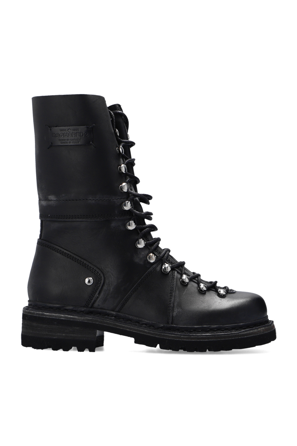 Dsquared2 'Kombat' leather boots