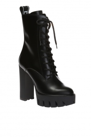Lace-up boots on the platform od Dsquared2