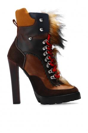 'queen peak' platform boots od Dsquared2