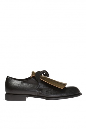 Shoes with detachable fringe application od Marni