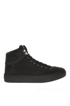 'argyle' high-top sneakers od Jimmy Choo