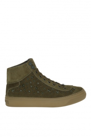 'argyle' suede high-top sneakers od Jimmy Choo