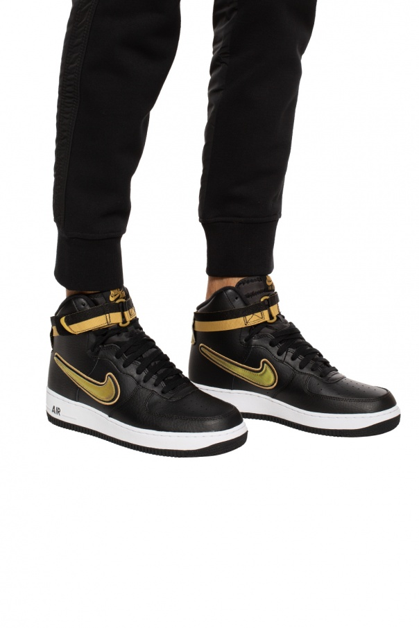 air force 1 highblack gold