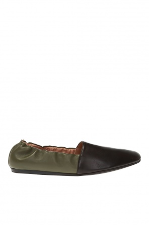 Leather ballet flats od Marni