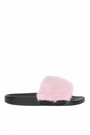 Fur-trimmed sliders od Givenchy