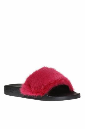 Slides with mink fur od Givenchy