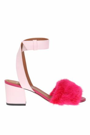 Fur-trimmed heeled sandals od Givenchy