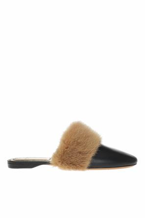Fur-trimmed slides od Givenchy
