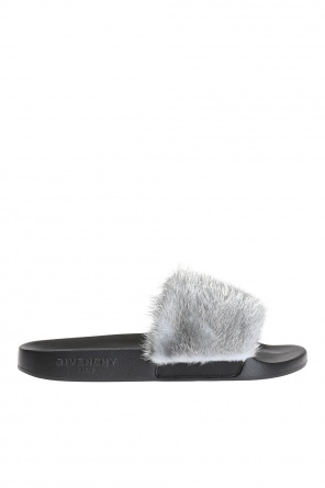 Fur-trimmed slippers od Givenchy