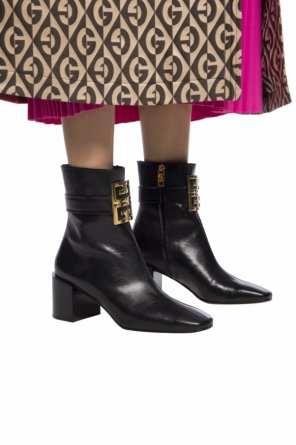 Heeled ankle boots with logo od Givenchy