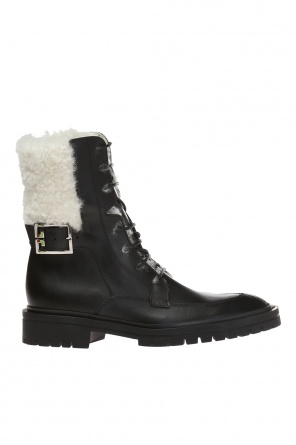 Fur-trimmed combat boots od Givenchy