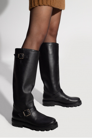 'biker ii' heeled boots od Jimmy Choo