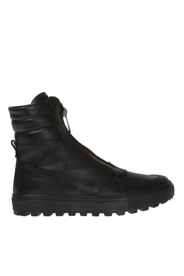 check out 37938 14124 Leather high-top sneakers Dirk Bikkembergs - Vitkac shop online