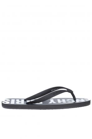 Decorative inscription flip flops od Givenchy