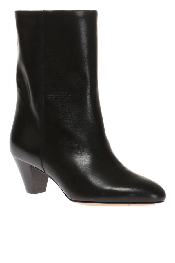 'dyna' leather heeled ankle boots od Isabel Marant