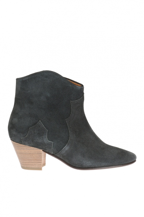 Isabel Marant 'Dicker' suede heel ankle boots