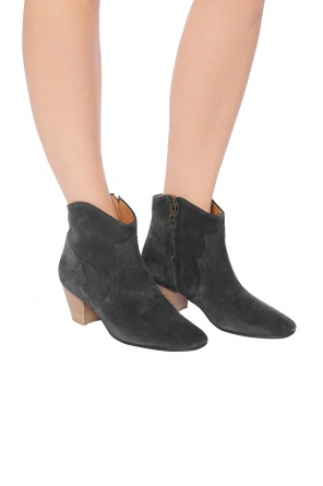 'dicker' heeled ankle boots od Isabel Marant